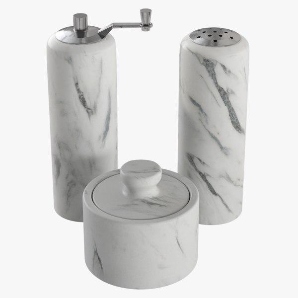 realistic salt pepper marble 3D model