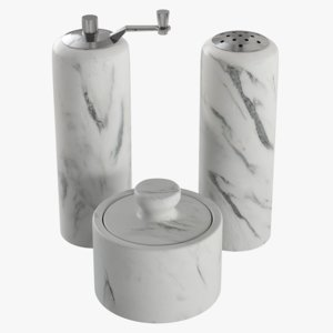 realistic salt pepper marble 3D model