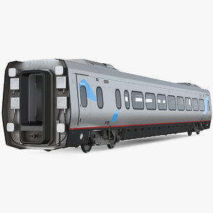 3D acela express business class model