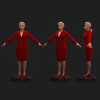 executive female 3D