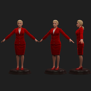 executive female 3D