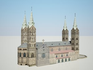 3D bamberger dom germany