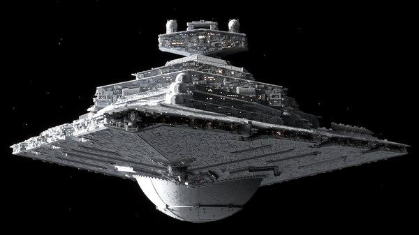 3D star wars destroyer