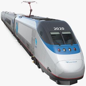 3D amtrak acela express train model