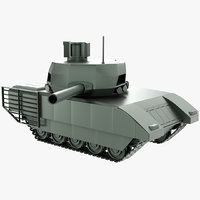 t14 armata stylized 3D model