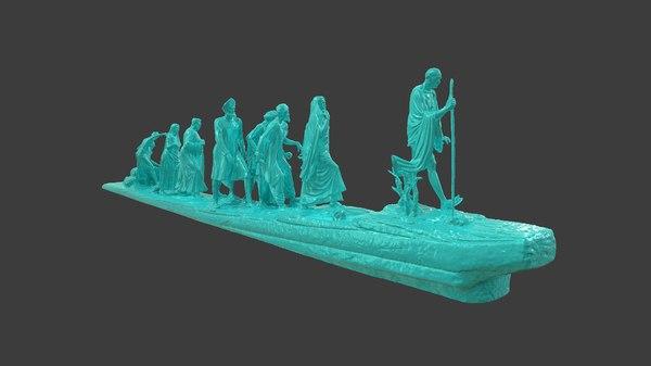 3D statues march gandhi salt