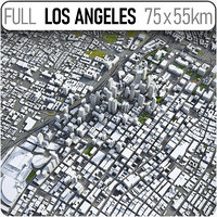 3D los angeles surrounding - model
