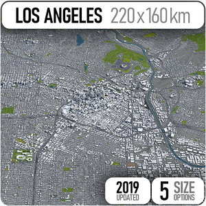 los angeles - city 3D model