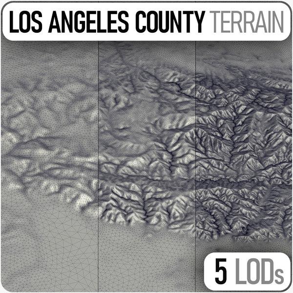 3D terrain print data