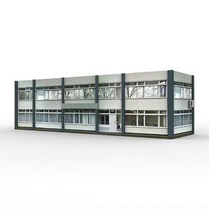 3D office building 4 model