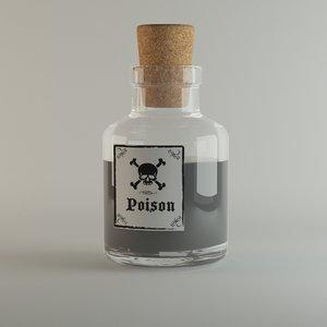 3D poison vial