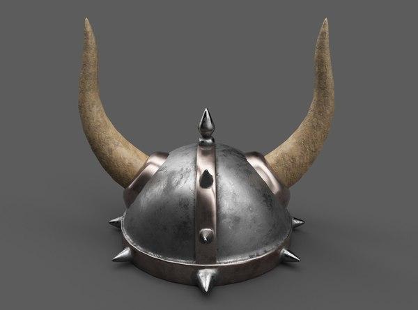 viking - barbarian helmet model