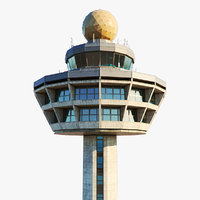 3D singapore air control tower