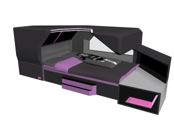 3D bed scifi