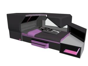 3D bed scifi