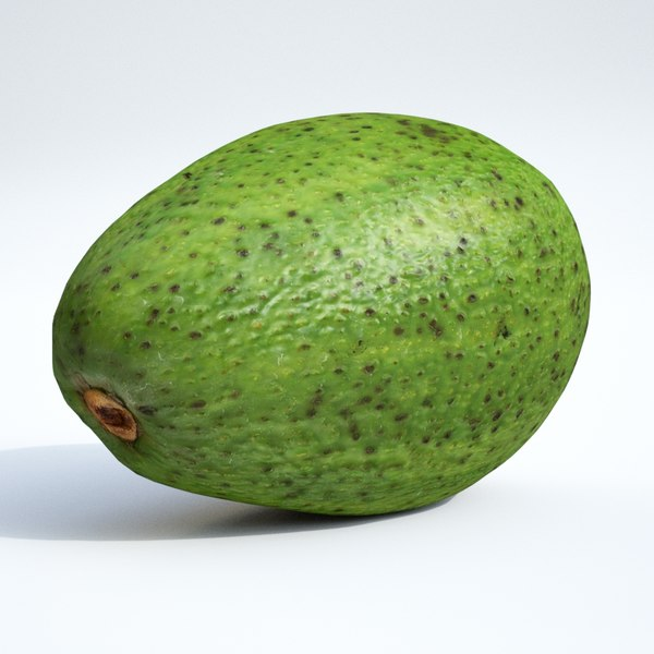 3D model avocado fruit