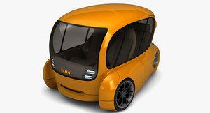 bemo tricycle car 3D model