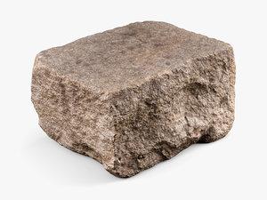 3D reality granite rock