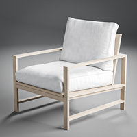 Modern Farmhouse Wood Outdoor Lounge Chair