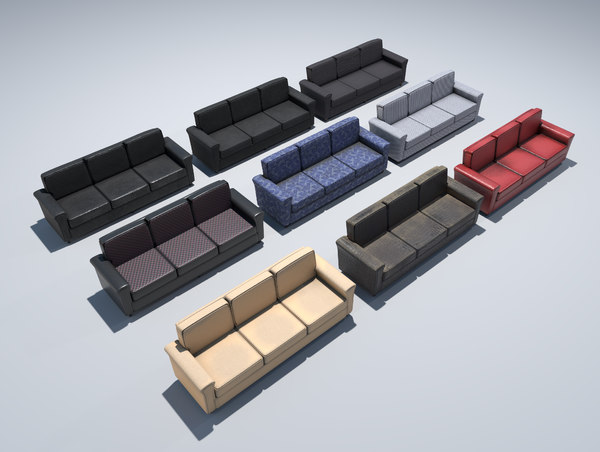 3D modeled couch