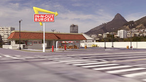 3D n restaurant mall
