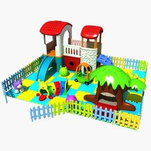 3D amusement park 3