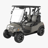 3D realistic golf car clubs