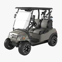 Golf Car With Clubs