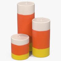 3D candles corn model