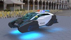 3D model police hover car