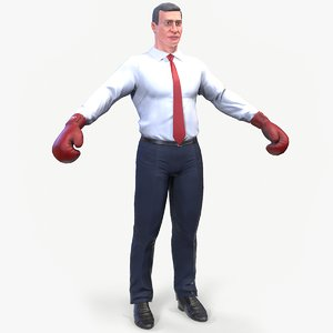 3D model ready klitschko boxer caricature