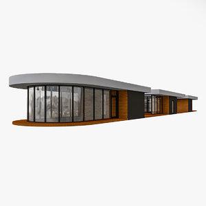 shop pavilion 3D model