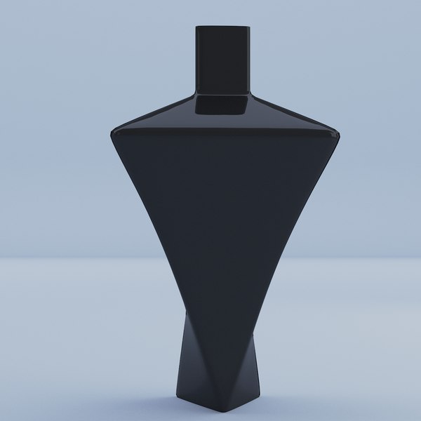 3D vase black glass