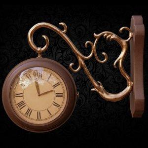 wall clock hook 3D