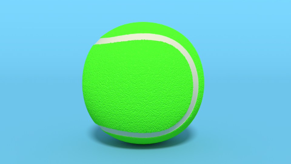 tennis ball cartoon 3D model