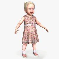 3D model ready little girl