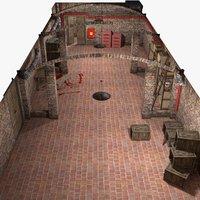 basement interior 3D model