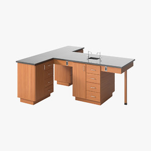 3D realistic table laboratory