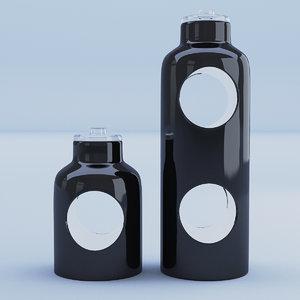 3D model glass containter black