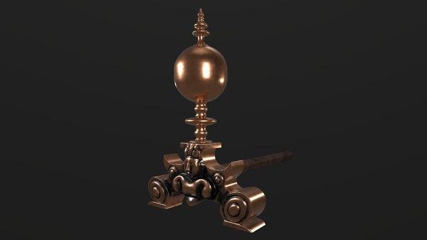 fireplace ornament 3D model