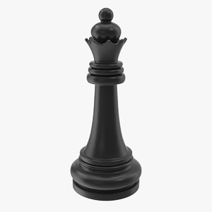 3D chess queen