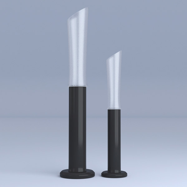 glass vases long 3D model