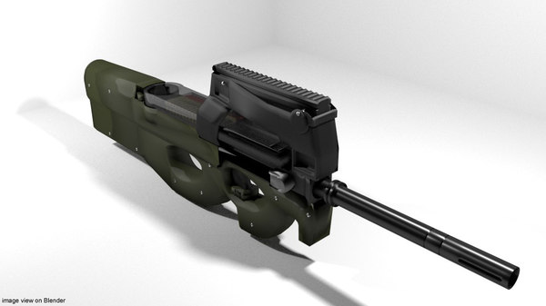 submachine gun fn 3D model