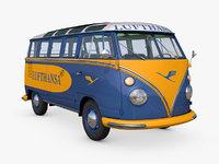 3D volkswagen t1 lufthansa model