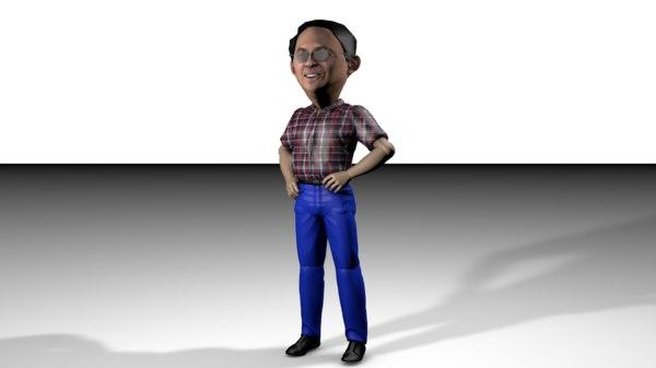 3D ahok chibi
