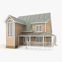 3D two-story cottage 79