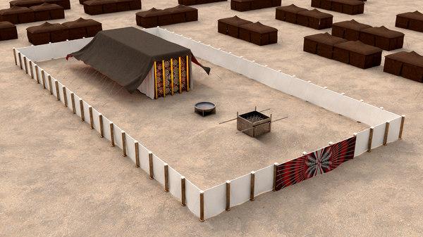 3D model temple tabernacle