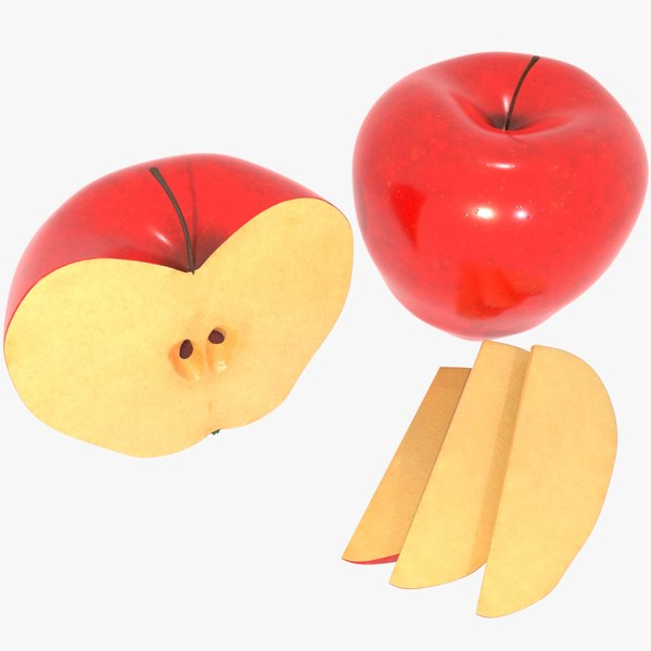 3D realistic apple model