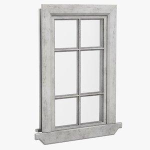 pbr window 3D model