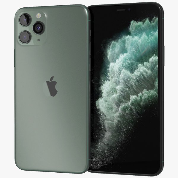 realistic apple iphone 11 3D model